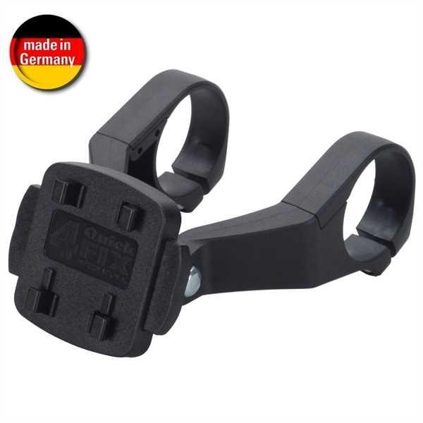 HR Fahrrad-/ Motorradhalter Dual für Lenkerstange mit Schnellverschluss und Sicherungsband 4-Secure